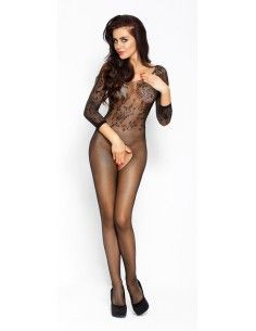 NET CATSUIT WITH OPEN...