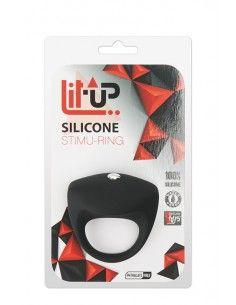 BLACK LIT-UP SILICONE STIMU...