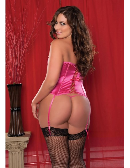 PERFECT POLISHED 2PC CORSET - PINK - XL