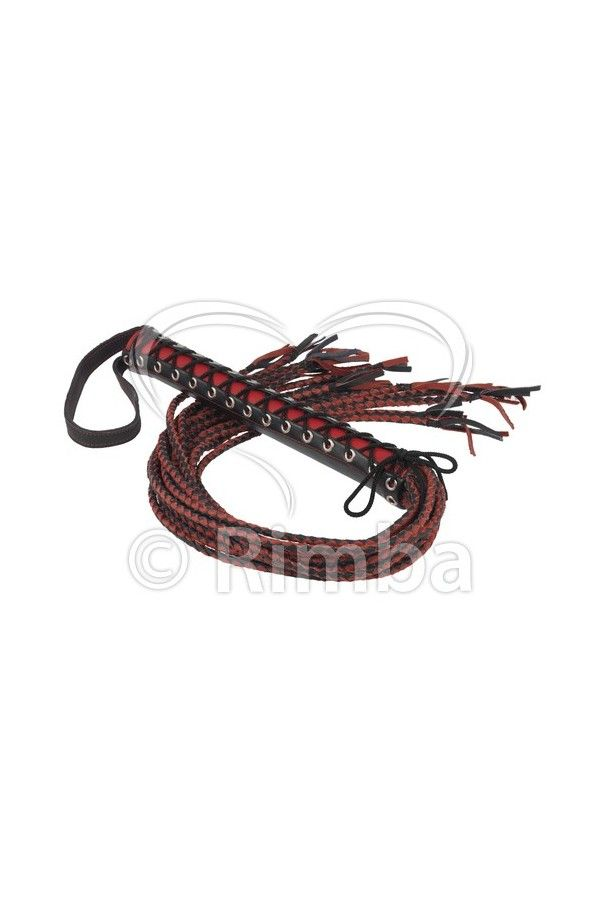 Whip of 15 plaited strings