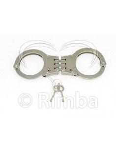 Steel police hand cuffs....