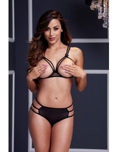 STRAPPY OPEN CUP BRA SET W...