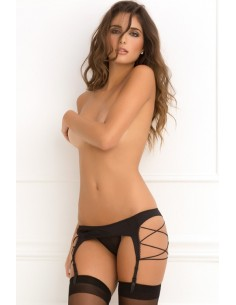 SIDE-STRAP GARTER BELT BLACK