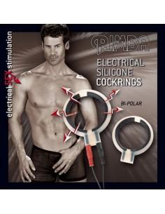 Rimba Electro cock rings, bi-polar, round 2 pcs