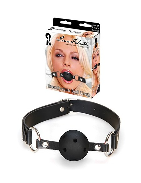 LUX FETISH BREATHABLE BALL GAG BLACK
